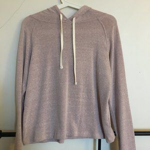 Urban Outfitters slightly cropped pink hoodie